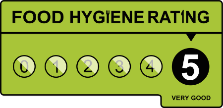 food hygiene rating five